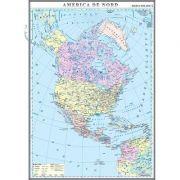 America de Nord. Harta politica 1000x1400 mm