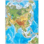 Asia. Harta fizica, harta de contur 500x350 mm