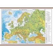 Europa. Harta fizica si politica 1600x1200 mm