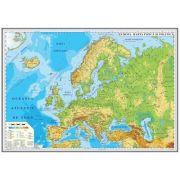 Europa. Harta fizica si politica 700x500mm, fara sipci