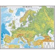 Europa. Harta fizica si politica. Harta de contur, 500x350 mm, fara sipci