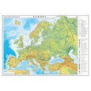 Europa. Harta fizica si politica. Harta de contur, 600x470 mm, fara sipci