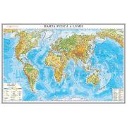 Harta fizica a lumii 700x500mm, fara sipci