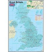 Harta murala Great Britan