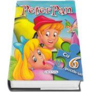 Peter Pan cu 6 puzzle-uri - 6 pagini frumos ilustrate si 6 puzzle-uri a cate 6 piese fiecare