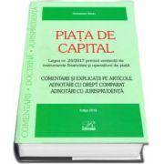 Piata de capital - Legea nr. 24/2017 privind emitentii de instrumente financiare si operatiuni de piata