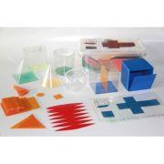 Set 6 corpuri geometrice, forme desfasurate din plastic