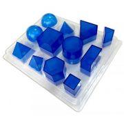 Set de 12 figuri geometrice din plexiglas