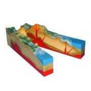 Structura interna a vulcanului. Model 3D