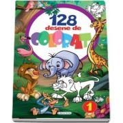128 desene de colorat, volumul I