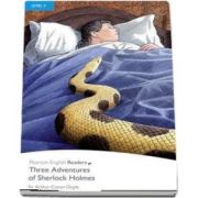 Level 4: Three Adventures of Sherlock Holmes Book and MP3 Pack