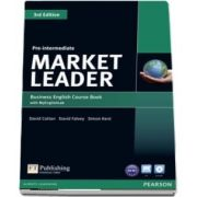Market Leader 3rd Edition Pre Intermediate Coursebook with DVD ROM and MyEnglishLab Student online access code Pack