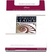 New Language Leader Upper Intermediate Teachers Etext Access Card