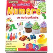Numere. Carte de activitati cu autocolante