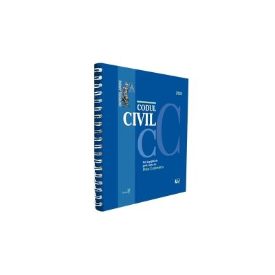 Codul civil 2020 - EDITIE SPIRALATA, tiparita pe hartie alba, coperta cartonata