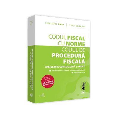Codul fiscal cu Norme si Codul de procedura fiscala 2020 - Editie tiparita pe hartie alba