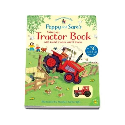 Poppy and Sams wind-up tractor book