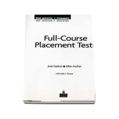 Top Notch / Summit Full Course Placement Tests with Audio CD