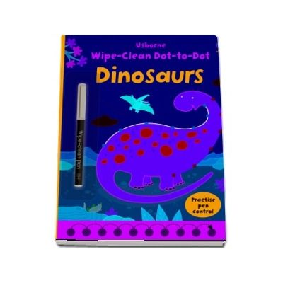 Wipe-clean dot-to-dot dinosaurs