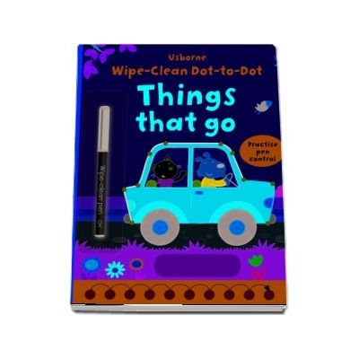 Wipe-clean dot-to-dot things that go