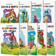 Pachet 9 carti de colorat format A5 - Povesti clasice din literatura universala
