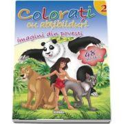 Colorati cu abtibilduri. Imagini din povesti, Volumul II