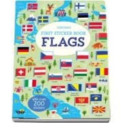 First sticker book flags