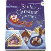 Santas Christmas journey with wind-up sleigh