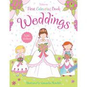 Weddings colouring book