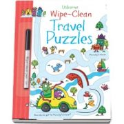 Wipe-clean travel puzzles