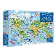 World atlas and jigsaw