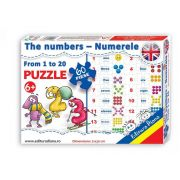 Puzzle the numbers from 1 to 20. 60 de piese