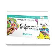 Caini. Carte de colorat pentru copii si parinti