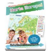 Harta Europei. Planse educationale