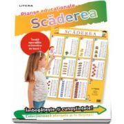 Scaderea 0 - 10. Planse educationale