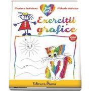 Caiet de exerciții grafice 3-4 ani (B5)