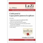 Codul penal si Legea pentru punerea in aplicare. Cod 724. Actualizat la 22. 10. 2020