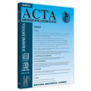 Acta Universitatis Lucian Blaga nr. 1/2020