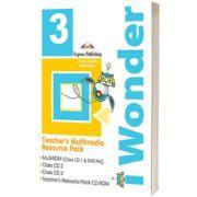Curs de limba engleza iWonder 3 Material multimedia pentru profesor set 4 CD, Jenny Dooley, Express Publishing