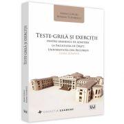 Teste-grila si exercitii pentru examenul de admitere la Facultatea de Drept, Universitatea din Bucuresti: limba romana