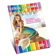 Citesc si colorez. Mica Sirena