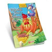 Vulpoiul cel siret si gainusa rosie - povesti de colorat