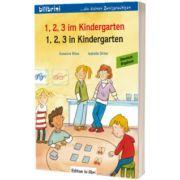 1, 2, 3 im Kindergarten. Kinderbuch Deutsch-Englisch, Susanne Bose, HUEBER