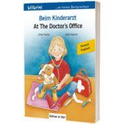 Beim Kinderarzt Kinderbuch Deutsch-Englisch mit Wort-Bild-Leiste auf jeder Seite, Ulrike Fischer, HUEBER