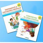 Set de 2 caiete pentru clasa I. Limba romana si Matematica - Intuitex (Varianta - Pitila, Mihailescu), Stefan Pacearcă, INTUTEXT