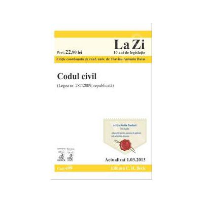 Codul civil (actualizat la data de 1. 03. 2013)