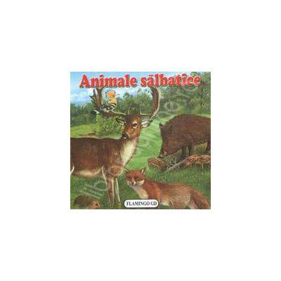 Animale salbatice. Pliant cartonat cu imagini color