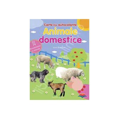 Animale domestice. Carte cu autocolante