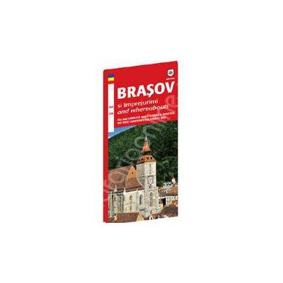Harta turistica Brasov si imprejurimi (Bilingva)