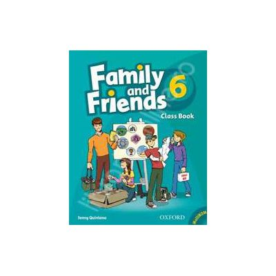 Family and Friends 6 Class Book and MultiROM Pack